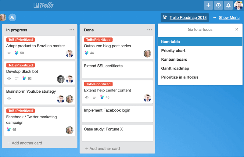 If the team deal with simple projects, they use Trello