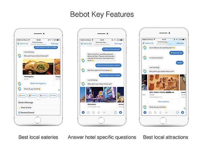 Bebot travel recommendation chatbot
