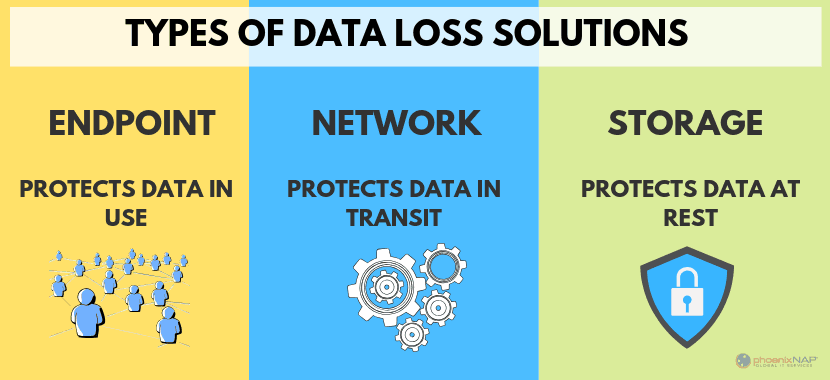 There are three major types of Data Loss Prevention software