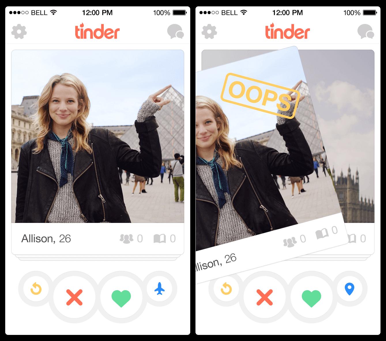 Tinder swipe