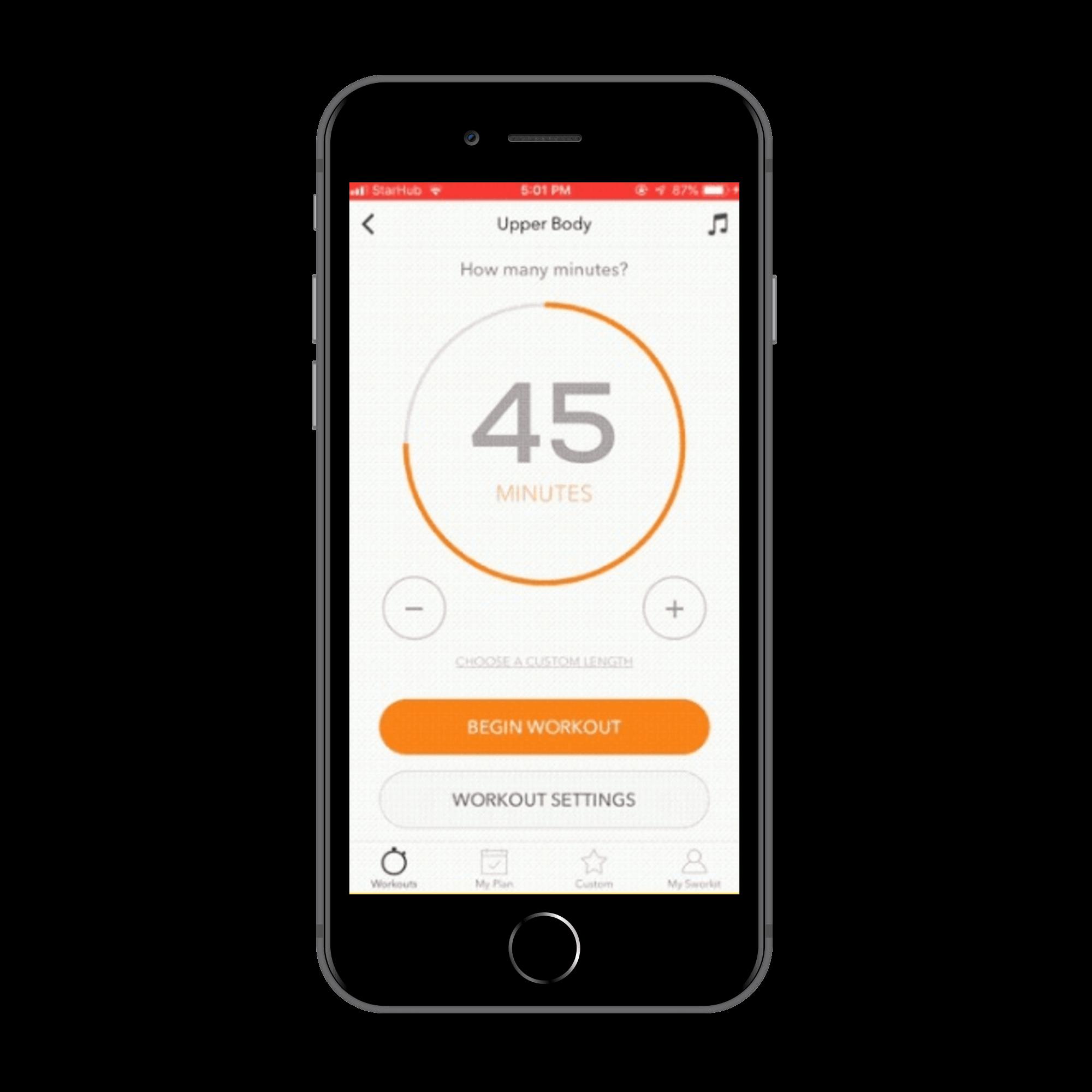 Timer for fitness app