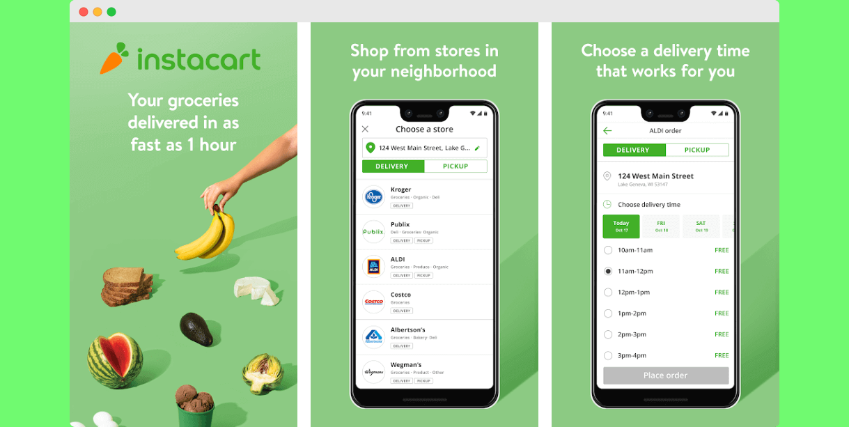 grocery delivery on demand app