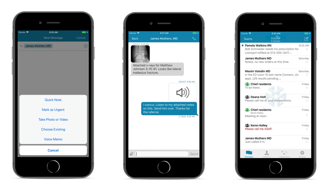 Clinical communication app