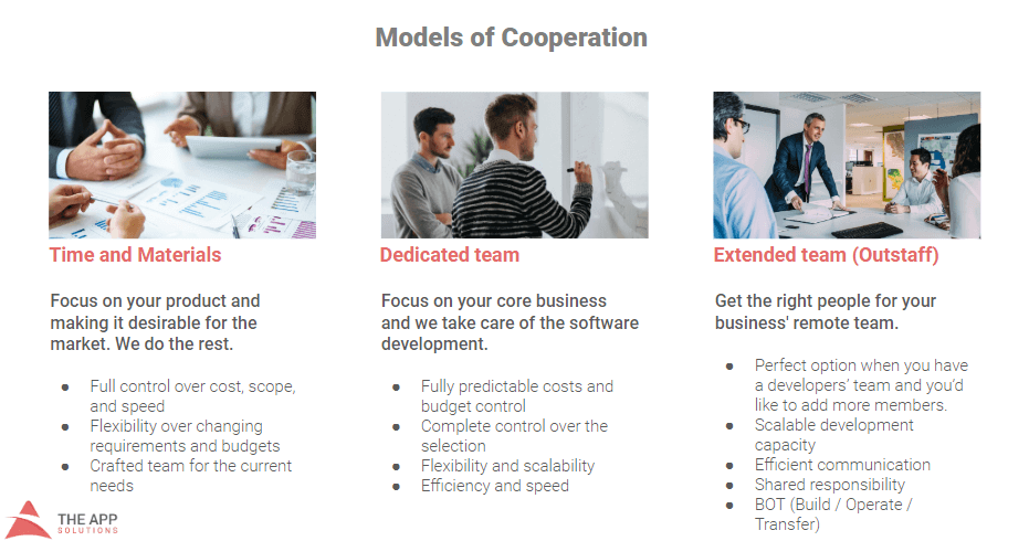 The app Solutiuons models of cooperation