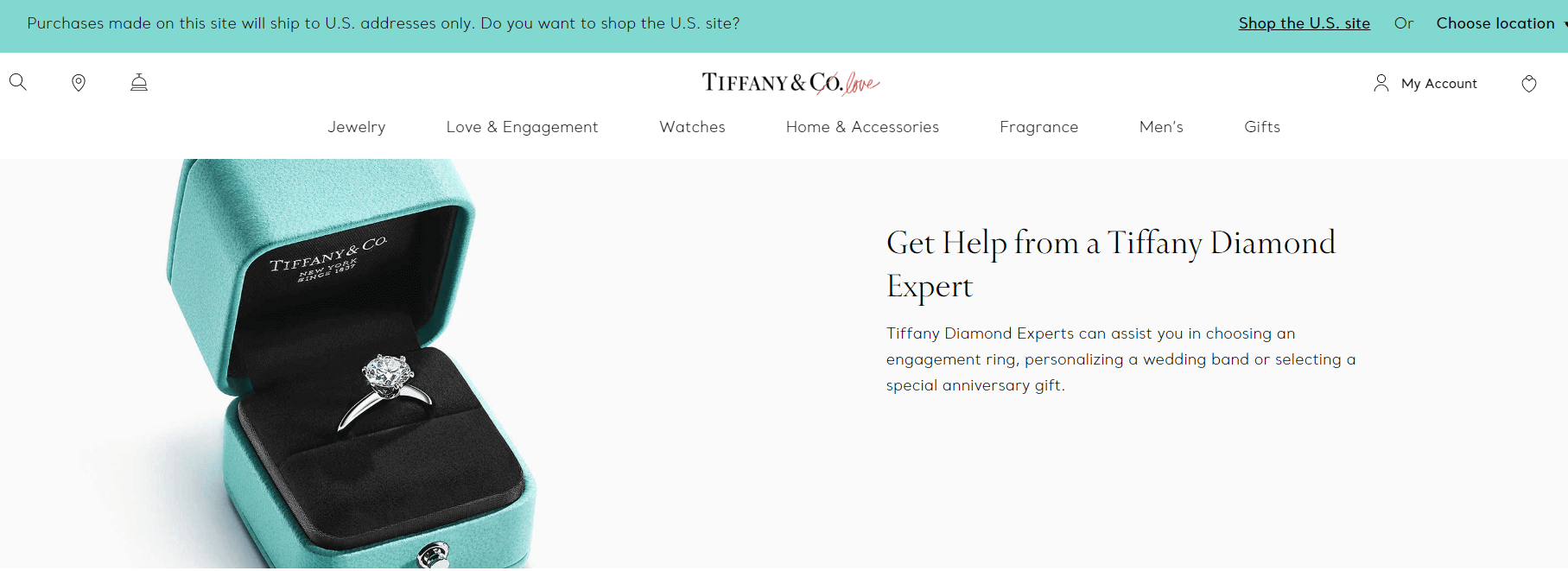 Tiffany website design call an expert