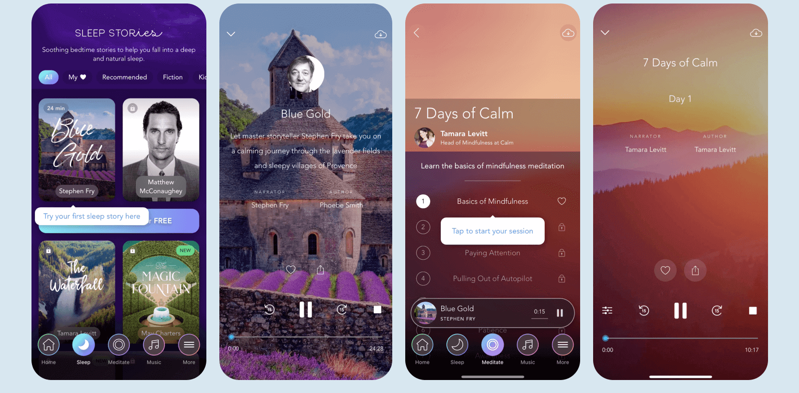 Guided meditation apps example