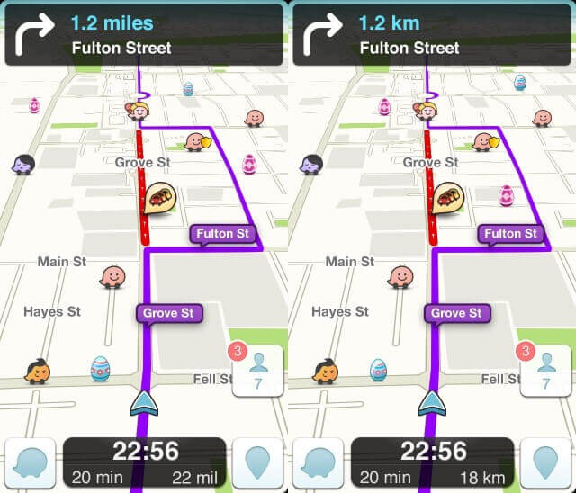Waze users can collect candies that contain points