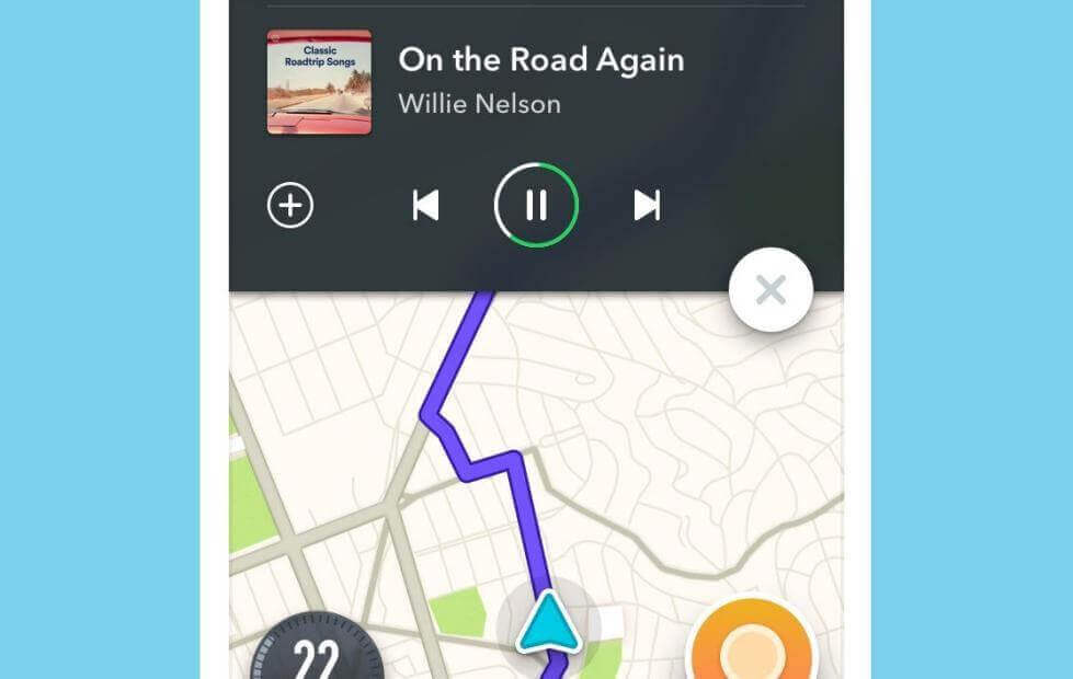 Waze has integrated Spotify playlists so drivers can listen to their favorite music while driving