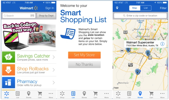 Apps for retail business with geolocation