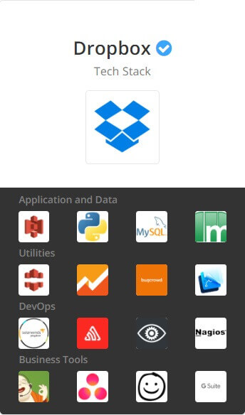 dropbox techstack