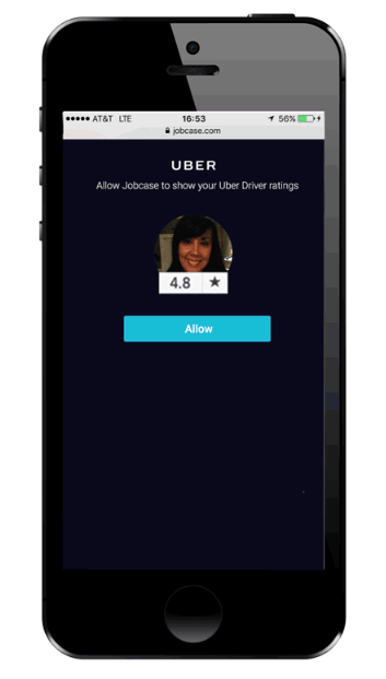 Jobcase, a job marketplace, integrated Uber API to showcase driver reviews