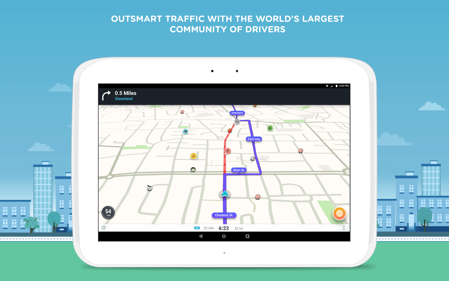 Waze navigation interface