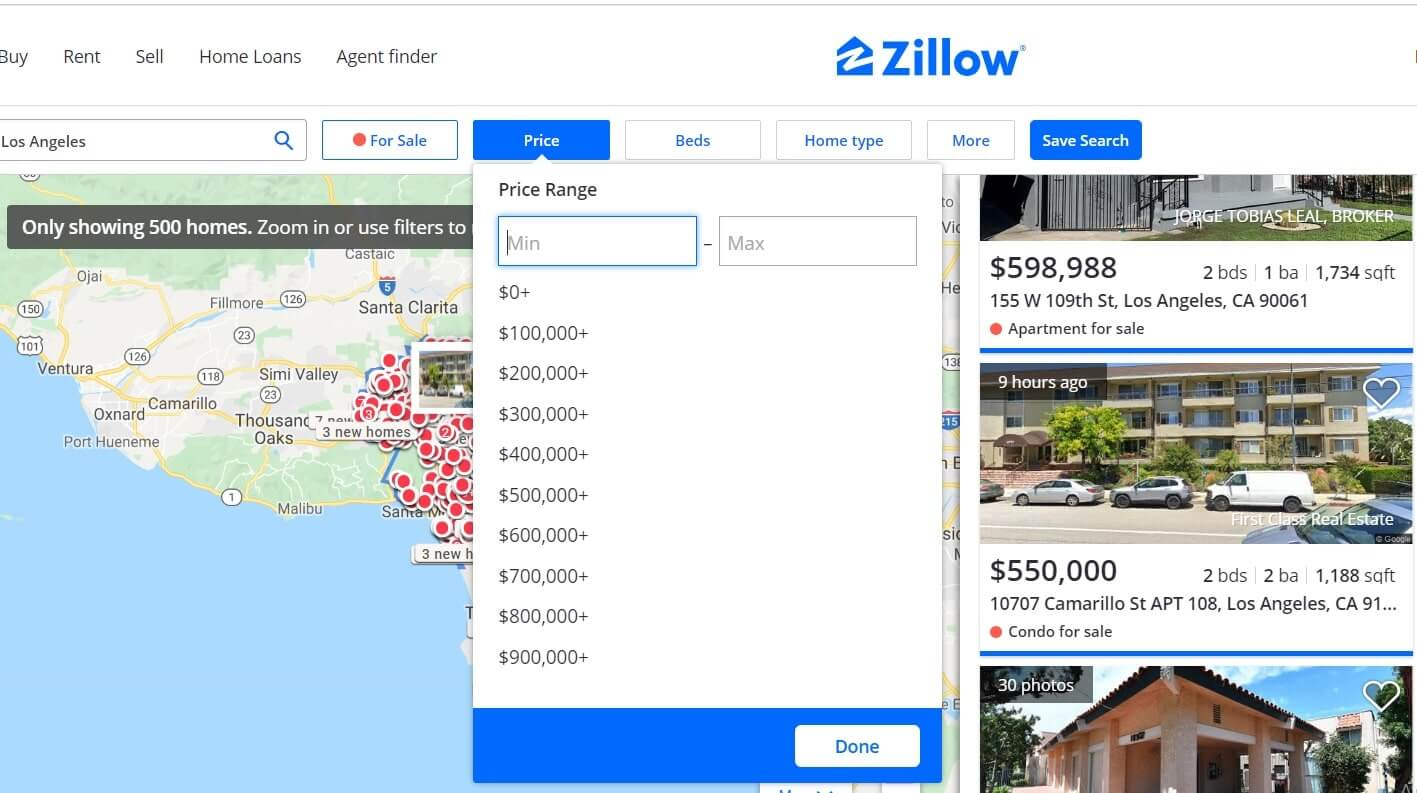 develop a real estate app like zillow
