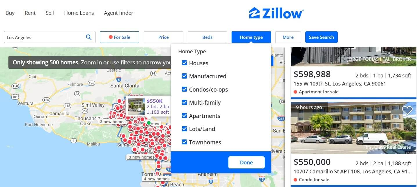 real estate sites similar to zillow