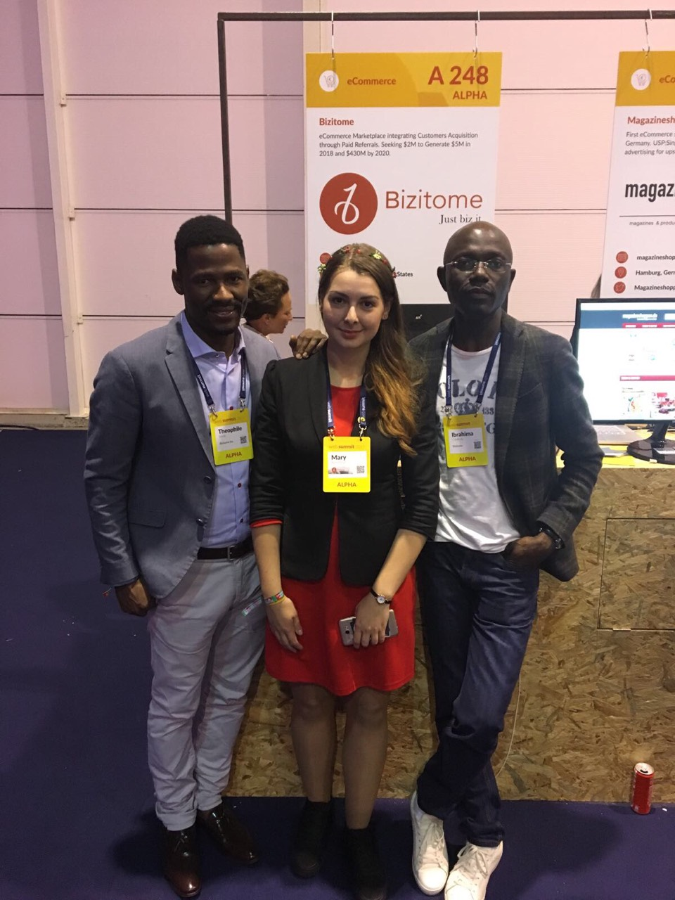 Mariia and the Bizitome Team at the WebSummit 2017